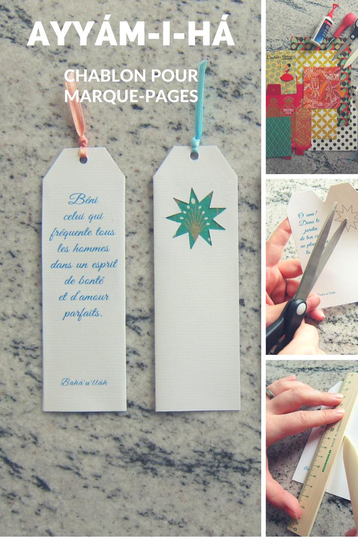 Chablon pour marque-pages d'Ayym-i-há